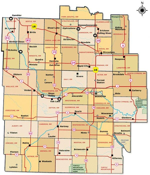 Manitobas Tourist Regions